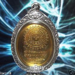 Thai Buddha Amulet LP Tuad Nang Phan V. 1 Brass Egg-shape Coin Buddha Utthayan