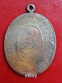 Thai Buddha Amulet Magic LP REUNE Powerful Lucky For Life Protection Talisman