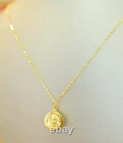 Thai Buddha Amulet Pendant + 22K 24 inch Necklace Chain Holy Fine Gold Jewelry