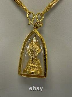 Thai Buddha Amulet, Phra, Gold, Luck, Dragon, Necklace Brand New