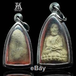Thai Buddha Amulet Phra Lp Thuad, Tuad, Be2506 Wat Prasat Pendant Case Thailand