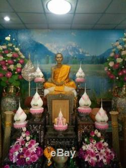 Thai Buddha Amulet Phra Pidta LP TOH 3 Takrut BE2521 Wat Pradoochimplee Thailand