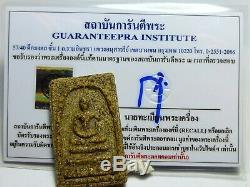 Thai Buddha Amulet Very Rare Certificate Phra Antique Clay Somdej Toh Wat Rakang