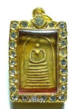 Thai Buddha Amulet Very Rare Phra Somdej Wat Rakang Old Antique Genuine
