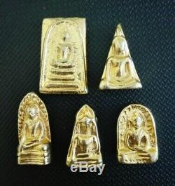 Thai Buddha Leklai 5 Benjapakee Phra Somdej Magic Talisman Amulet Collectible