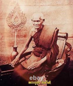 Thai Buddha Lp Boon Bia Kae Protection Evil, Devil Amulet Talisman BE. 2467