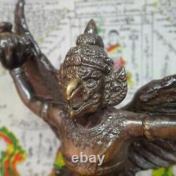 Thai Buddha Sculpture Phra Garuda Phaya Krut Magic Bird Buddhism Talisman