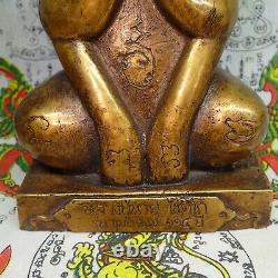 Thai Buddha Sitting Statue Phra Pidta Closed Eyes Brass Pitta Sculpture Buddhism