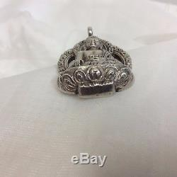 Thai Buddha Sterling Silver Pendant/Amulet, Vtg & Collectible