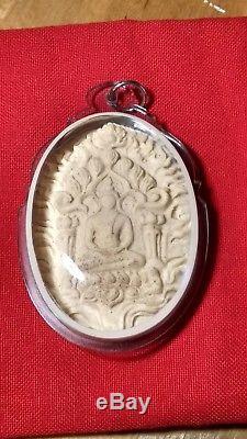 Thai Buddha amulet/Aj Klang Seng Khunpan amulet (2 real gold takrut)