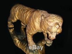 Thai Buddhist Buddha Antique Amulet Tiger Lp Peun Old Collection Brass