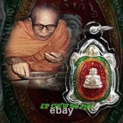 Thai Genuine LP LIEW Amulet Buddha Money Good Lucky Gamble Real Talisman BE, 2538