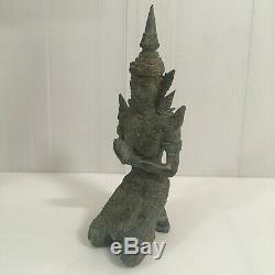 Thai Guardian Angels Buddha Amulet Statue Antique Theppanom 2 pcs Home Decor 9
