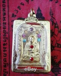 Thai LP Toh Gold Color Holy Amulet Buddha Pendant Magic Talisman Luck Rare Real