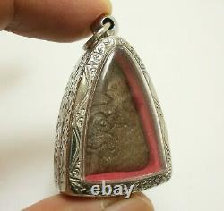Thai Magic Warrior Real Amulet Powerful Pendant Lp Boon Buddha Win All Obstacle