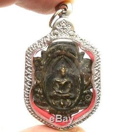 Thai Powerful Amulet Bless Pendant Lp Boon Lord Buddha Samadhi Magic Metal Coin