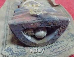 Thai amulet LP Tae Kuman Thong Wealth magic Wat Sam Ngam Buddha rare guman ghost