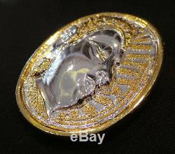 Thai amulet Nimitwichimarn Buddha UFO Coin Ajarn Mom Bring Good Luck Prestige