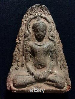 Thai amulets Dvaravati Buddha Statue Rare Item Antique
