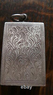 Thai buddha amulet Somdej Toh Bangkhunprom Bangkok Buddha Antique silver case