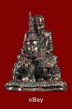 Thai buddha amulet Statues LP Kalong on tiger talisman Rare Wat Khao Lam