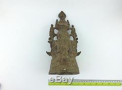 Thai buddha amulet old Statue buddha Lopburi Buddhist art antique gorgeous L/792