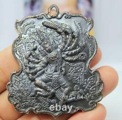 Thai buddha talisman antique The Black Coin Phra Narai Khwang Jak of LP Kalong