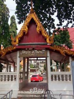 Thailand 3Silver Takrut BE2521 Pidta LP TOH Luck Rich Charm Thai Buddha Amulet