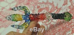 Trident Rainbow Leklai Kaew Trishula dagger Knife sword Thai Buddha Amulet SALE