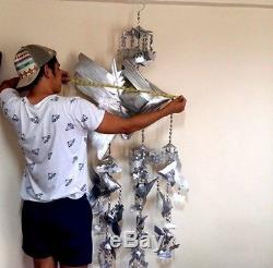 Wealth Fish Magic Large Natural Leaf (BAI LAN) Thai Buddha Amulet Wealth Rare