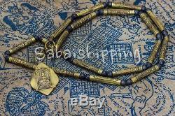 Yant Takrut Phra Lp Derm Necklace Thai Buddha Amulet Protection Pendant Old Rare