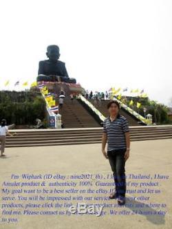 Year1970 RARE! Somdej Ket MongKol LP Tool Wat Pohnimit Old Thai Amulet Buddha